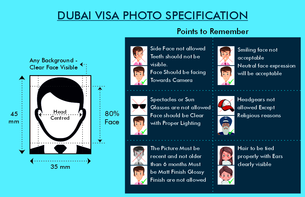 Dubai Visa Photo Size - Fly For Holidays
