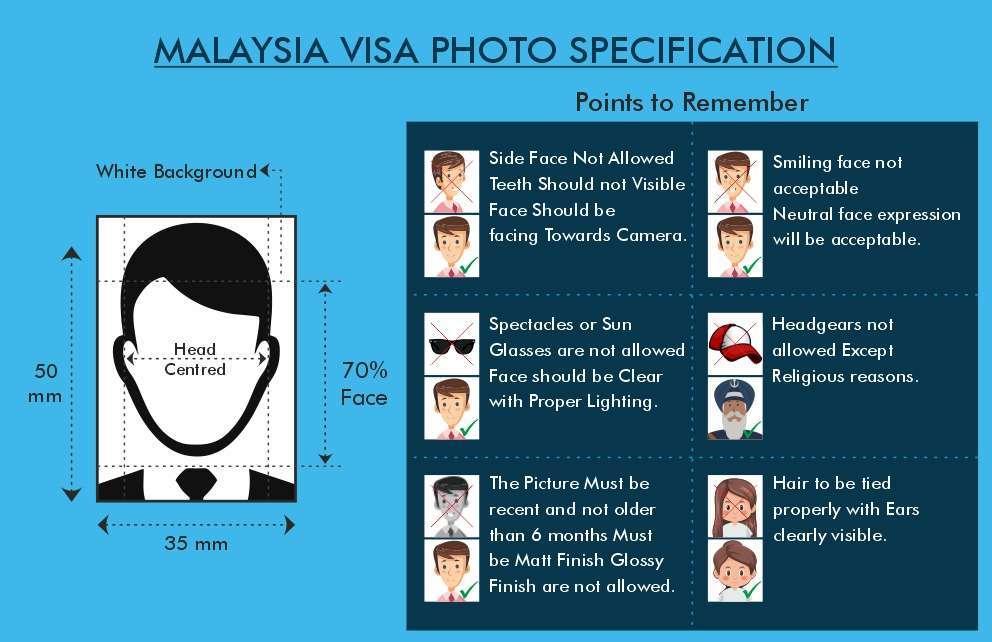Malaysia Visa Photo Size - Fly For Holidays